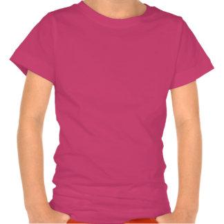 Camiseta rosada femenina del reno con la nariz roj