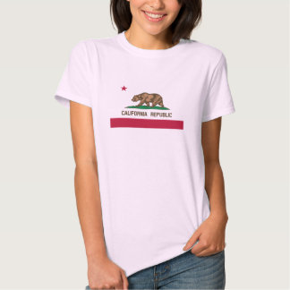 Camiseta rosada linda de la bandera del oso de polera