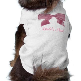Camiseta rosada preciosa del perrito del arco ropa macota