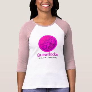 Camiseta rosada Queenlocks del béisbol
