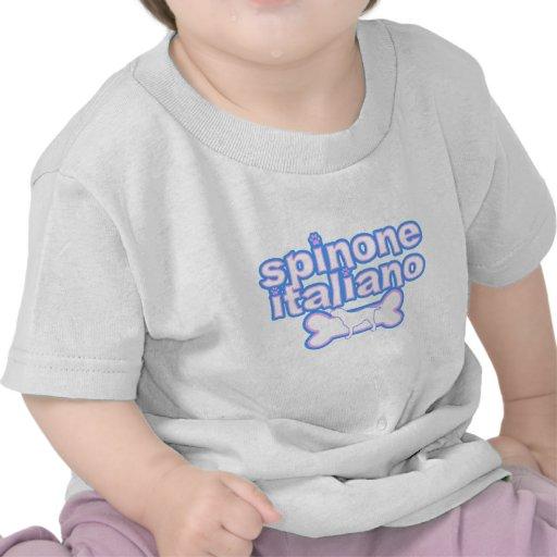 Camiseta rosada y azul del bebé de Spinone