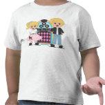 Camiseta rubia del salto del calcetín de los niños