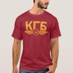 Camiseta rusa del emblema de KGB
