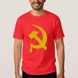 Camiseta rusa soviética del martillo y de la hoz playera