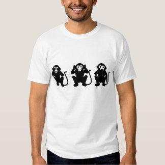 Camiseta sabia del mono tres camisas