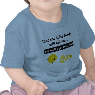 Camiseta salada del niño de los bocados
