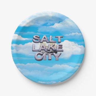 CAMISETA Salt Lake City Plato De Papel De 7 Pulgadas