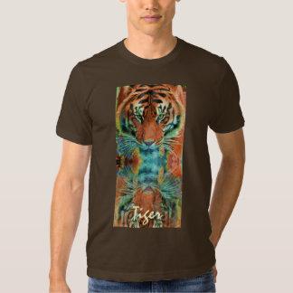 Camiseta salvaje de la fauna del gato grande del playera