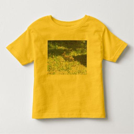 Camiseta salvaje de los niños del conejito playeras