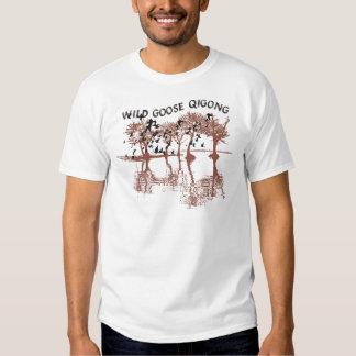 Camiseta salvaje de Qigong del ganso Playeras