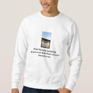 Camiseta salvaje del blanco de la antología del suéter