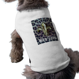 Camiseta salvaje del mascota de la cosa playera sin mangas para perro