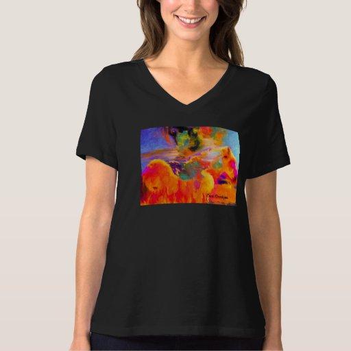 Camiseta salvaje del mustango poleras