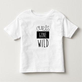 Camiseta salvaje ida rizos de los niños poleras