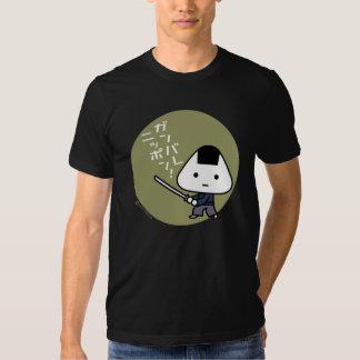 Camiseta - samurai de Riceball - oro de Ganbare Playera