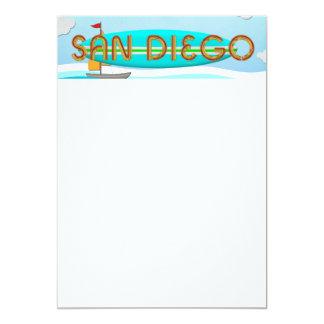 CAMISETA San Diego Invitación 12,7 X 17,8 Cm