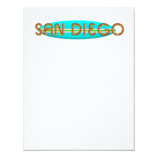 """CAMISETA San Diego Invitación 4.25"""" X 5.5"""""""