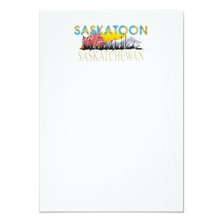 CAMISETA Saskatoon Invitación 12,7 X 17,8 Cm