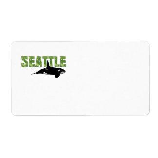CAMISETA Seattle Etiqueta De Envío