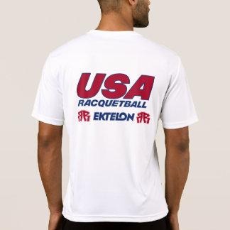 Camiseta seca del ajuste del Racquetball de los Playeras