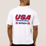 Camiseta seca del ajuste del Racquetball de los Remeras