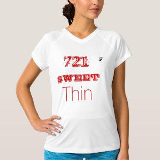 Camiseta seca doble del cuello en v del playeras