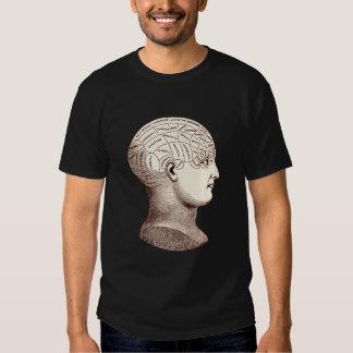 Camiseta seccional del cerebro frenológico del camisas