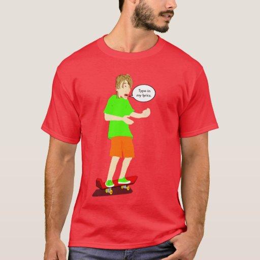Camiseta Serenading del tipo que anda en monopatín
