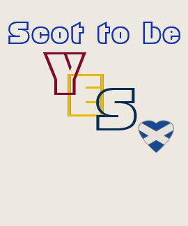 Camiseta sí escocesa del corazón de la independenc