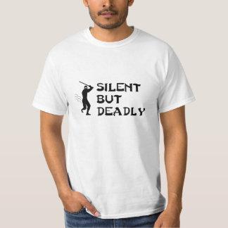 Camiseta silenciosa pero mortal de Ninja Playera