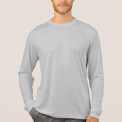 Camiseta Silve del competidor L/S del Deporte-Tek  Playeras