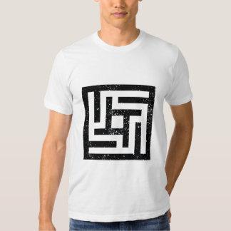 Camiseta simétrica del diseño 2 playeras