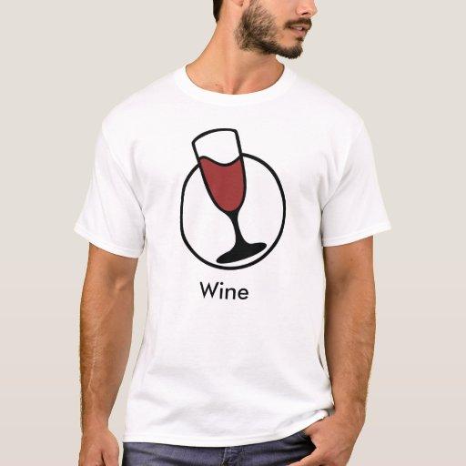 Camiseta simple del vino