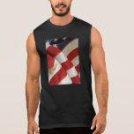 Camiseta sin mangas de la opinión de bandera ameri