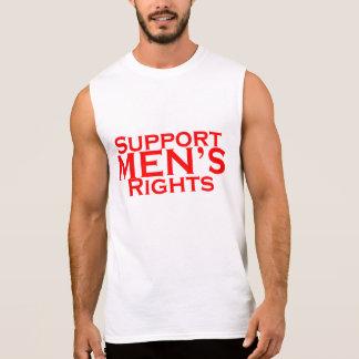 Camiseta sin mangas de las derechas de los hombres