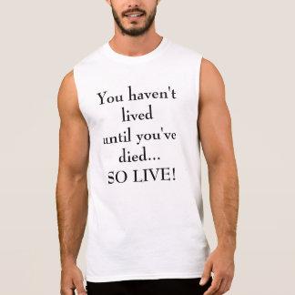 Camiseta sin mangas para hombre D0012 de la espera