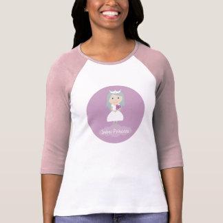 Camiseta sobria de la manga de la princesa 3/4 remeras