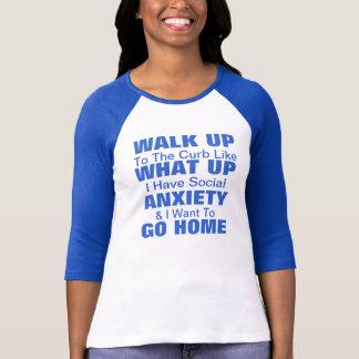 ¡Camiseta social de la ansiedad! ¡Personalizar! Playeras