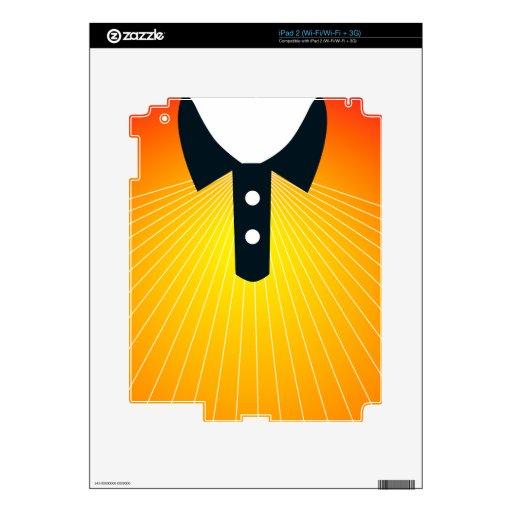 Camiseta soleada para el verano calcomanías para iPad 2