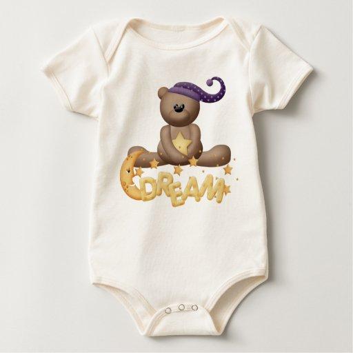 camiseta soñolienta del bebé del sueño del peluche