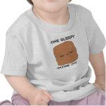 Camiseta soñolienta del bebé del tater