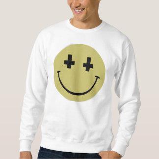 Camiseta sonriente cruzada invertida sudadera