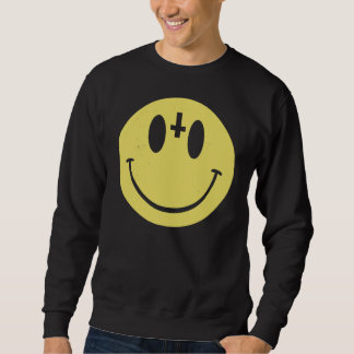 Camiseta sonriente cruzada invertida sudaderas
