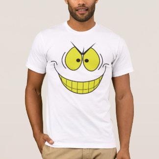 Camiseta sonriente de la cara de la sonrisa grande
