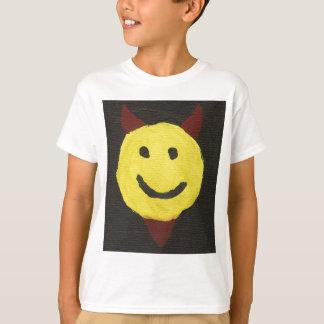 Camiseta sonriente de la cara del diablo