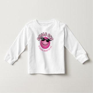 camiseta sonriente de la cara playera