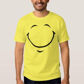 Camiseta sonriente de la cara poleras