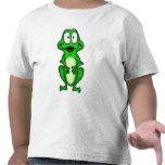 Camiseta sonriente de la rana