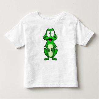 Camiseta sonriente de la rana polera