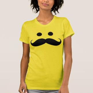 Camiseta sonriente de las señoras de la cara del remeras